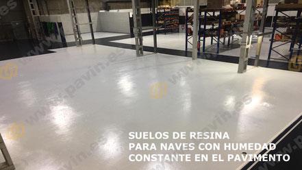 Suelos de resina para pavimentos con humedad por capilaridad