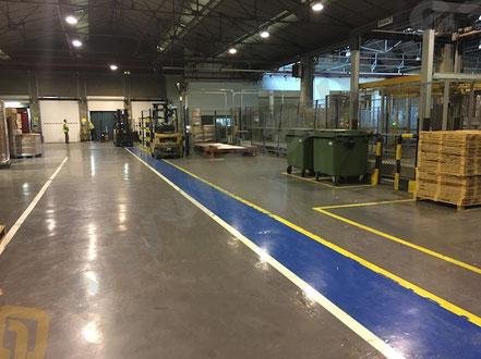 Suelos de resina para pavimentos industriales en la industria de la celulosa y del papel