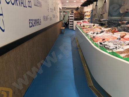 Suelos y pavimentos industriales para pescaderías de resinas continuos en Barcelona