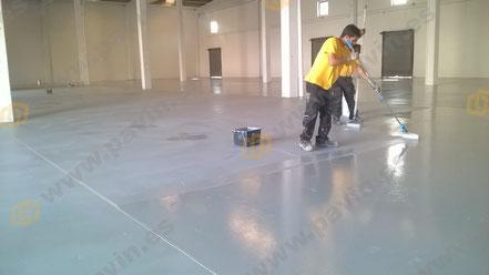 Suelos de resina para pavimentos industriales de la industria textil aplicados por Grupo Pavin