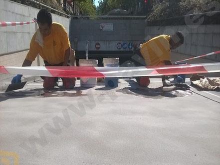 Suelos y pavimentos industriales para garajes y parkings de resinas continuos en Barcelona