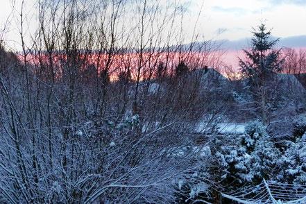 Der erste Schnee im Winter 2014/15 in Kühlungsborn