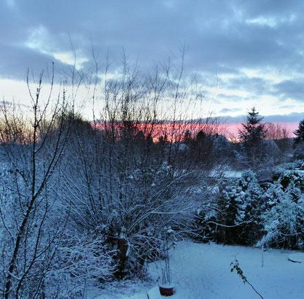Sonnenaufgang im Ostseebad Kühlungsborn - Winter 2014