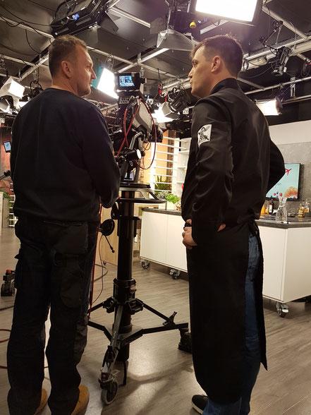 Beim Gespräch mit Kameramann Christian
