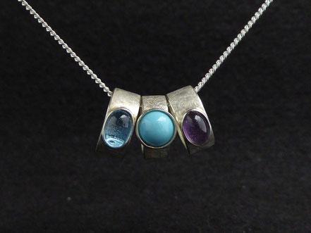 MiniRinge in 925 Silber mit verschiedenen Edelsteinen