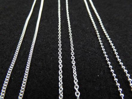 Verschiedene Silberketten für MiniRinge