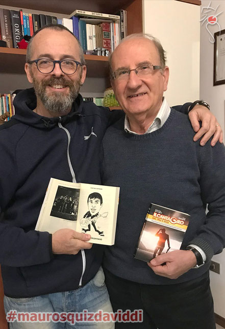 Mauro Squiz Daviddi con il Patron del Cantagiro: Enzo De Carlo