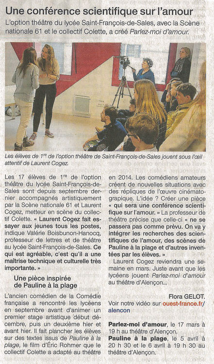 Ouest-France, 2 mars 2017