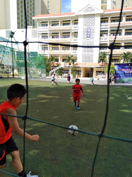 Dung beim Fußballtraining