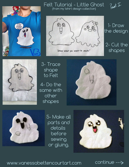 felt, doll, tutorial, ghost, celebration, decoration, halloween, cute, monster, sewing, blanket stitch, dolls, fabric, wip