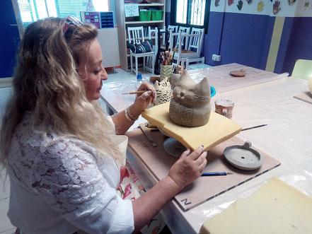 Clase de ceramica Mari Orikasa