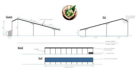 Plans hangar photovoltaique h rault grabels - Hangar photovoltaique agricole gratuit ...