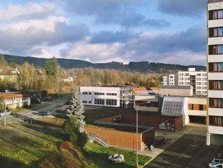 Студгородок в Либерце, вид из окна общежития