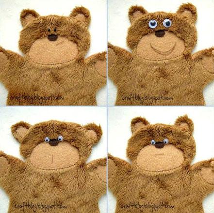 аппликация медведь, медведь из плюша, плюшевый медвежонок, оформление мордочки игрушки, как подобрать мордочку игрушке