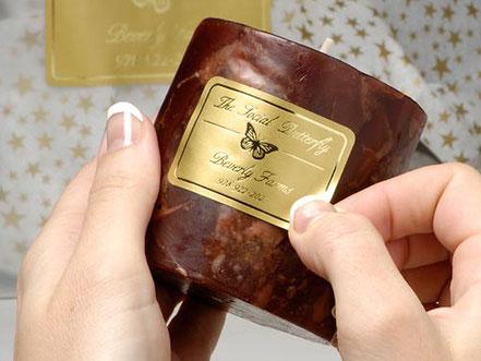 Con questa tecnica si stampano le etichette per bomboniere, confezioni, pasticceria ecc.