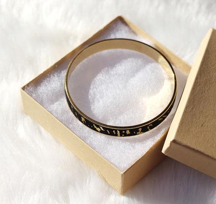 bracelet plaqué or, bracelet noir et or, bracelet manchette, bracelet bangle, bracelet cuir femme, bijoux noir et or, bracelet soirée