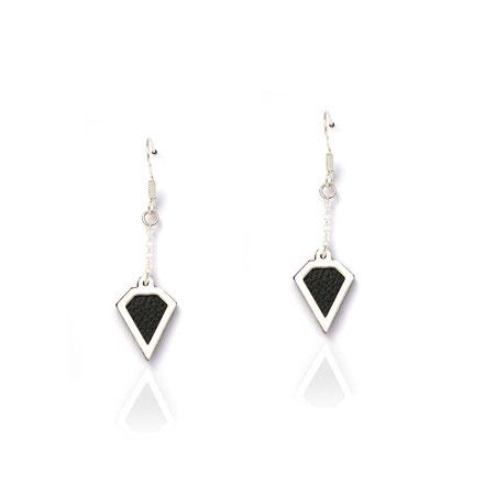 boucles d'oreille cuir, boucles d'oreille argent, turquoise, boucles d'oreille diamant, bijoux fait main, sarayana, bijoux géométrique, parure bijoux, bijoux cuir, bijoux élégant, bijoux fin, bijoux raffiné