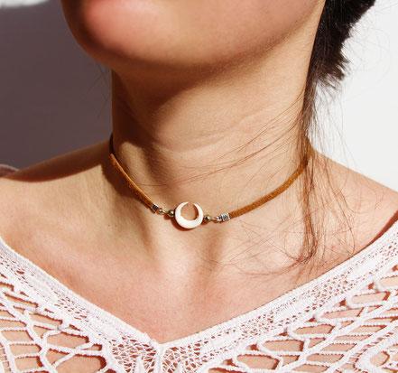 taille d'un collier ras de cou
