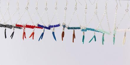 sarayana, bijoux créateur, création bijoux, bioux fait main, créateur de bijoux, boucles d'oreille triangle, bijoux triangle, bijoux géométrique, bijou moderne, boucles d'oreille bleu marron, boucles d'oreille argent,