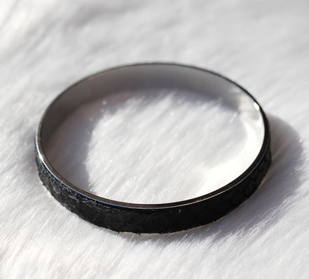 bracelet manchette, bracelet noir et argent, bracelet cuir, cuir serpent