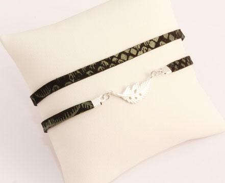 bracelet multitours cuir, lanières de cuir, bijoux cuir véritable, cuir noir serpent, bracelet plume argent, bracelet fin, bijoux ethnique chic, bijou fait main, sarayana
