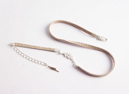 bracelet multitours cuir, lanière de cuir, bijoux cuir véritable, bracelet plume argent, rose poudré argent, bijoux fait main, sarayana, bracelet fin