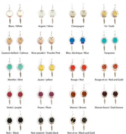 bijoux cuir, boucles d'oreille cuir, sarayana, bijoux rouge et argenté, bijoux doré, boucles d'oreille plume argent, bijoux ethnique-chic, bijoux fait-main, boucles d'oreille ethnique-chic, boucles d'oreille créôle, bijoux élégant, bijoux créateur