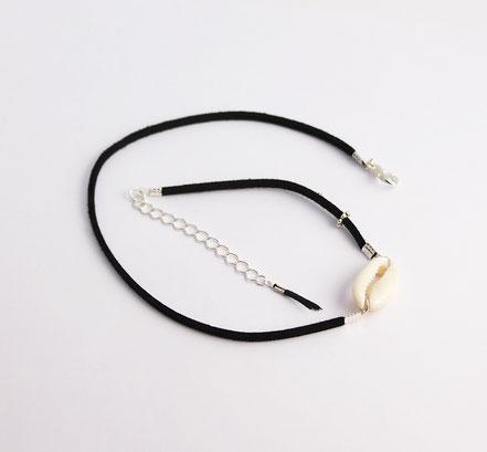 bijoux créateur, bracelet créateur, bijoux fait main, bracelet cuir, bracelet double touts, bracelet multi tours, bracelet cowrie, bracelet noir, bijoux été, bracelet été, bracelet cuir suédé, bracelet plage, bracelet coquillage, bijoux ethnique-chic