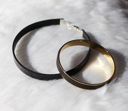 collier tour de cou noir, ras du cou cuir noir, tour de cou noir, choker necklace