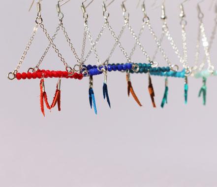 sarayana, bijoux créateur, création bijoux, bioux fait main, créateur de bijoux, boucles d'oreille triangle, bijoux triangle, bijoux géométrique, bijou moderne, boucles d'oreille Mint menthe, boucles d'oreille argent,