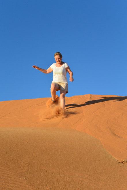 Viel Spass beim ersten Kontakt mit den Dünen des Erg Chebbi