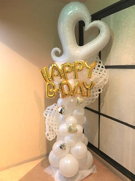 バルーンコラム 風船 誕生日 発表会 ライブ  開店祝い お祝い
