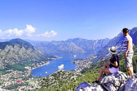 Ausblick auf die Bucht von Kotor
