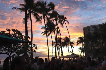 Sonnenuntergang in Waikiki