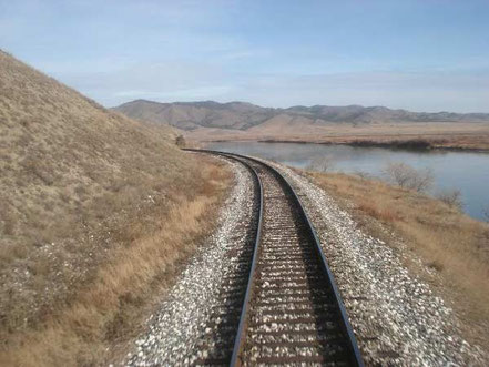 sur les rails - vue du transsibérien - voyage transsibérien