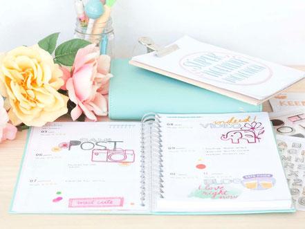 Organiza tu agenda utilizando elementos de scrap by Violeta