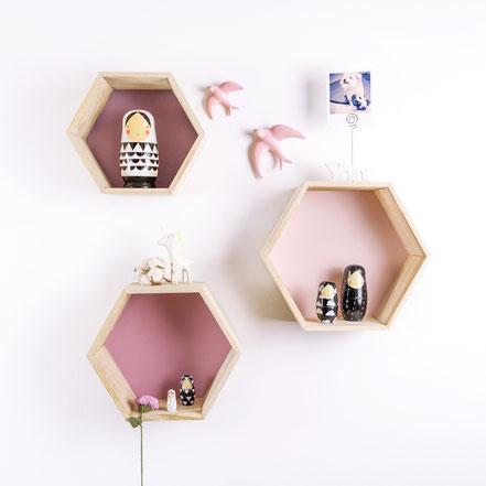 DIY Estanterías hexagonales by Sami Garra