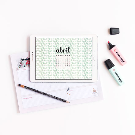Freebies de calendario: ABRIL by Sami Garra