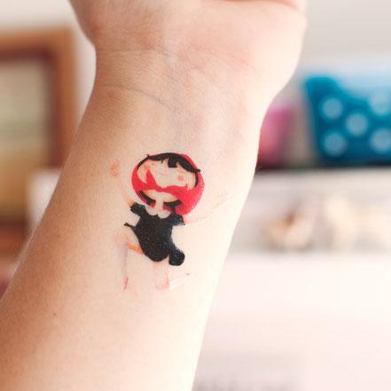 Temporal tattoo from Estherimenta to Sami Garra
