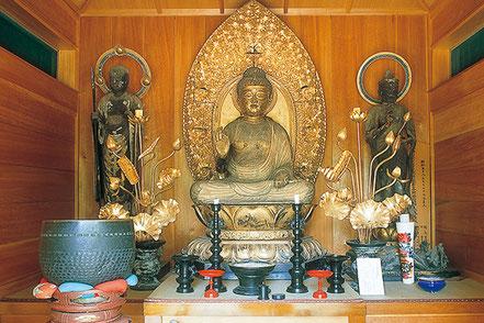 木造阿弥陀如来坐像、聖観音菩薩立像・地蔵菩薩立像(無量寺)