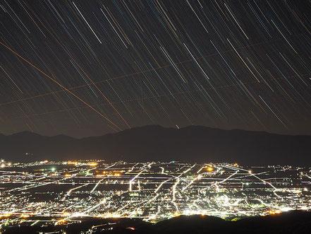 【佳作】三澤栄市「箕輪町の夜景」