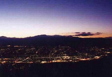 萱野高原からの夜景