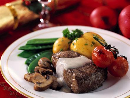 Steak mit Sahne-Sauce
