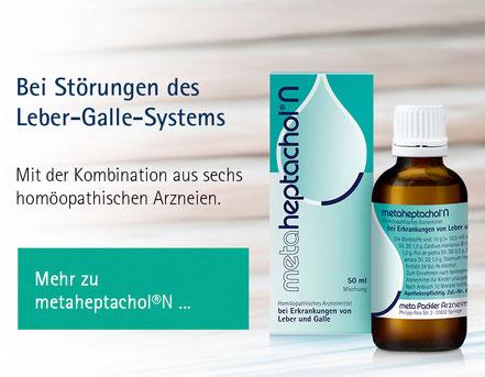 metaheptachol Packshot Bei Störungen des Leber-Galle-Systems