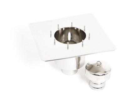 Stemar underplate for 2-piece floor drain