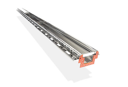 Stainless steel box gutter with grate