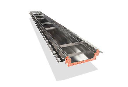 Stemar wide box gutter (heavy duty) with flange