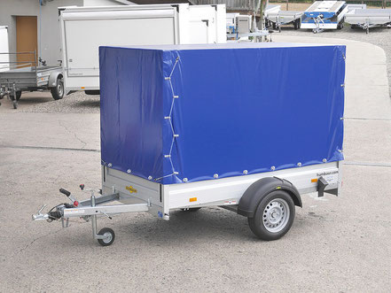 Humbaur Anhänger für PKW, mit Planenverdeck in der Farbe blau, komplettangebot zum kaufen
