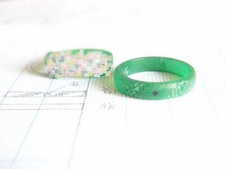 結婚指輪の原型作り