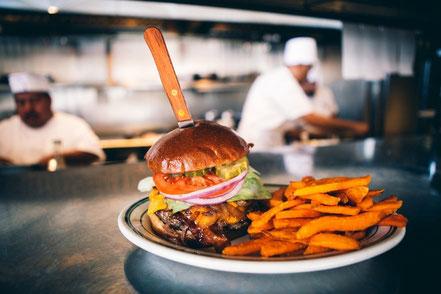 Hamburger Fast food Blechschild